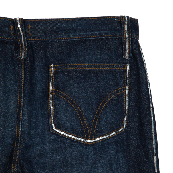 Dolce and Gabbana Denim Capri Pants S