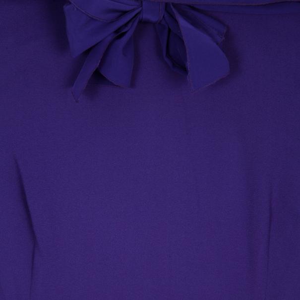 Prada Purple Sleeveless Tie Top M