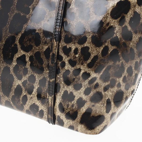 Dolce and Gabbana Leopard Print Miss Escape Tote Bag