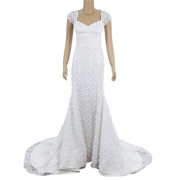 Oscar de la renta spring 2012 guipure lace wedding dress s for Oscar de la renta lace wedding dress
