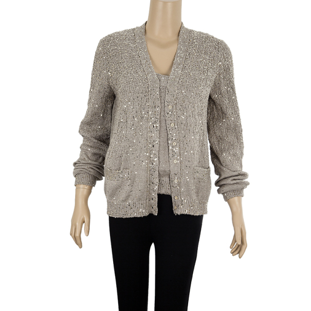 Yves Saint Laurent Knit Cardigan Set XL