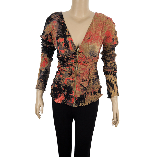 Roberto Cavalli Front Gathered Top M