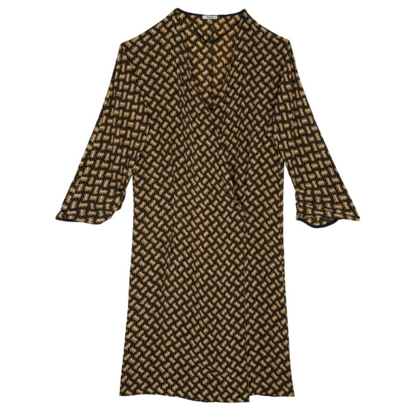 Miu Miu Printed Wrap Dress M