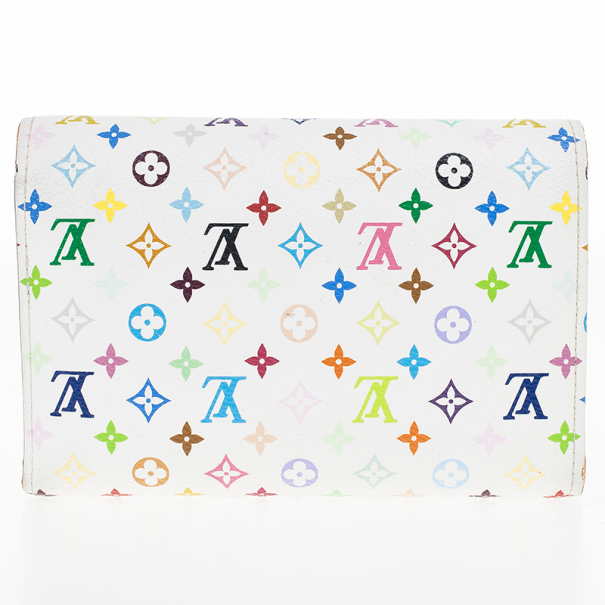 Louis Vuitton White Multicolore Alexandra Wallet