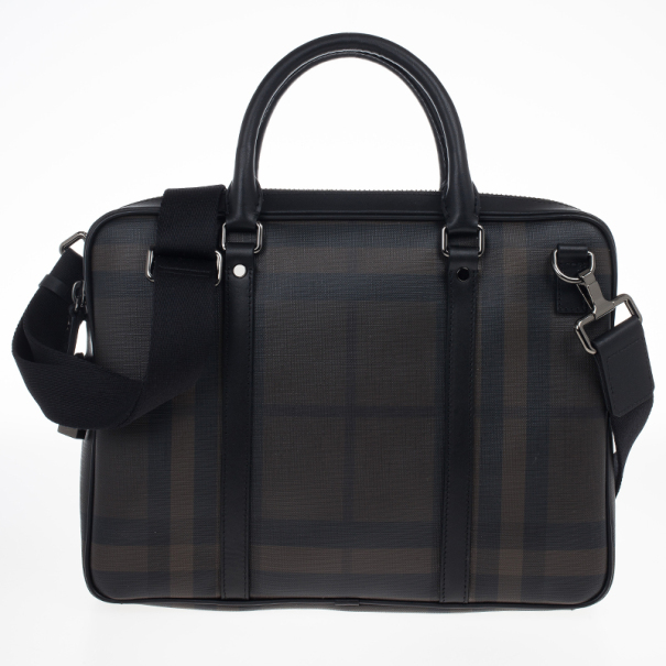 Burberry Smoked Check Newburg Briefcase