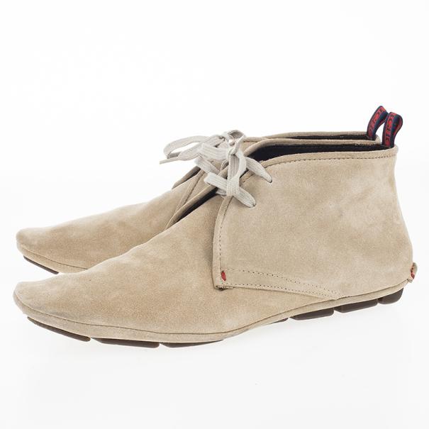 Carolina Herrera Beige Suede Lace Up Shoes Size 42