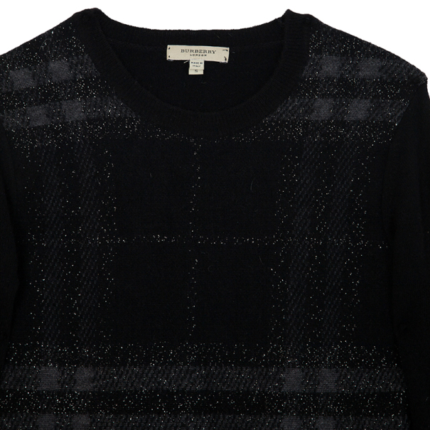 Burberry Brit Black Check Print Sweater S