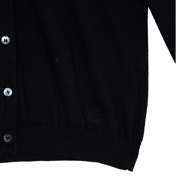 Burberry Black Button Down Cardigan M