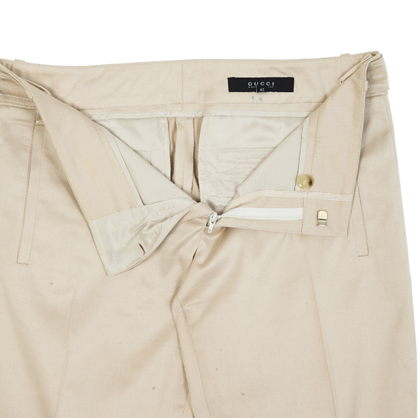Gucci Beige Formal Flare Pants M