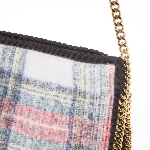 Stella McCartney Multicolor Falabella Tartan Crossbody Bag