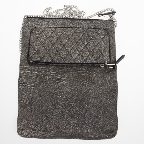 Jimmy Choo Gray Bex Quilted Shoulder Bag
