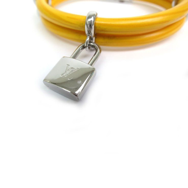 Louis Vuitton Citron Epi Keep It Twice Bracelet