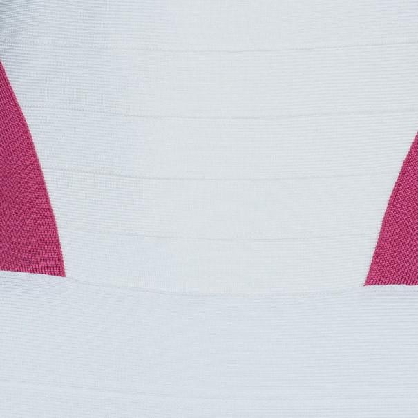 Herve Leger Andie Halterneck Multicolor Bandage Dress M