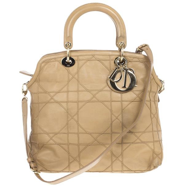 f79135027cb ... nextprev. prevnext  to buy 92ab0 5027f ... Christian Dior Beige Cannage  Quilted Lambskin Leather Granville Tote ...