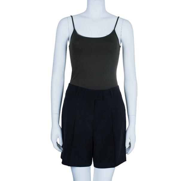 Escada Black Crepe Shorts XS