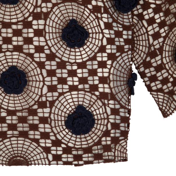 Tory Burch Crochet Silk Top L