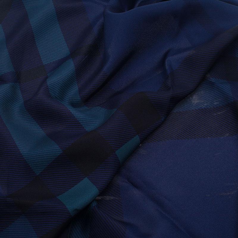 Burberry Navy Blue Novacheck Square Scarf