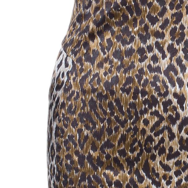 D and G Leopard Print Bustier Dress M
