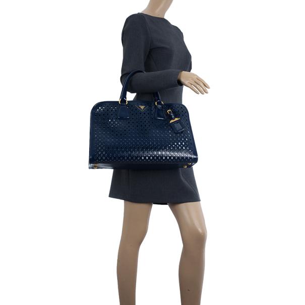 Prada Cut-out Saffiano Fori Laser Handbag With Pochette