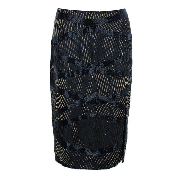Escada Embellished Pencil Skirt M