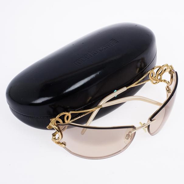 Roberto Cavalli Caos Serpent Shield Sunglasses