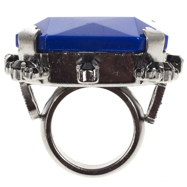 Christian Dior Cocktail Blue Giant Ring Size 52