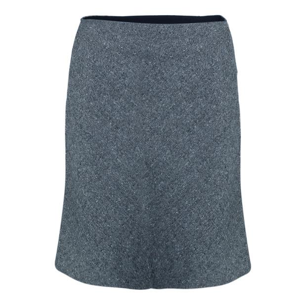 Dior Grey Wool Skirt Suit M/L
