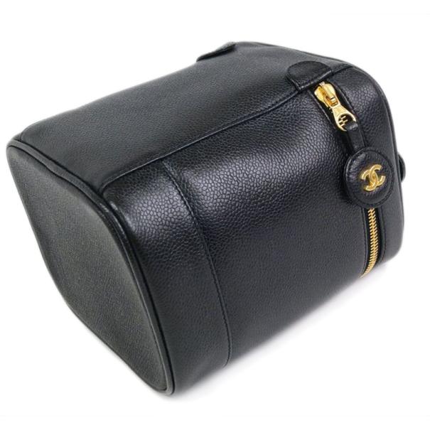 Chanel Black Caviar Cosmetic Vanity Bag