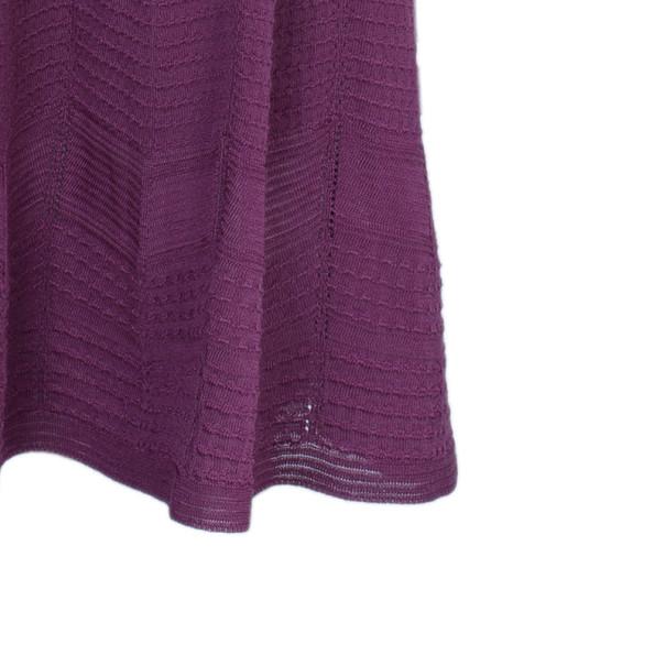 M Missoni Purple Knit Flare Dress XL
