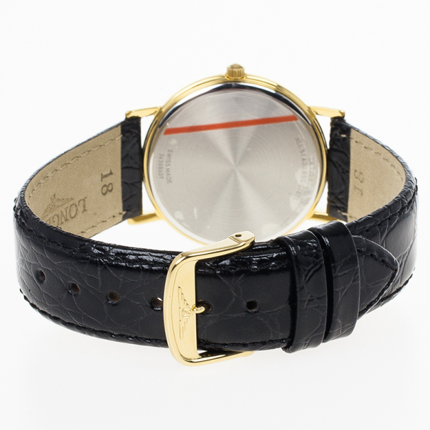 Longines White Gold-Plated Steel Grand La Classique Presence Unisex Wristwatch 34MM