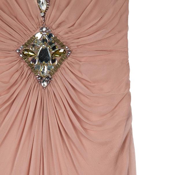 Temeperley Vega Embellished Silk Chiffon Gown M