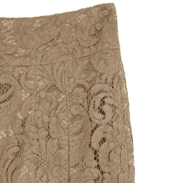 Burberry London Cotton Blend Lace Pencil Skirt S