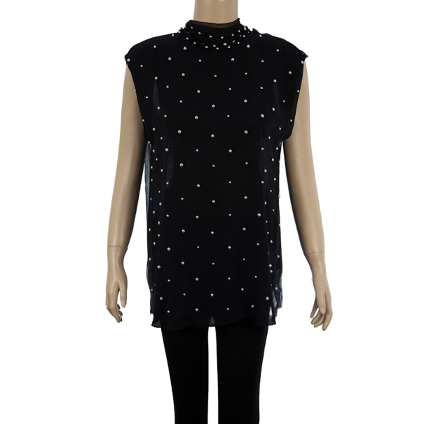 D and G Pearl Embellished Top M