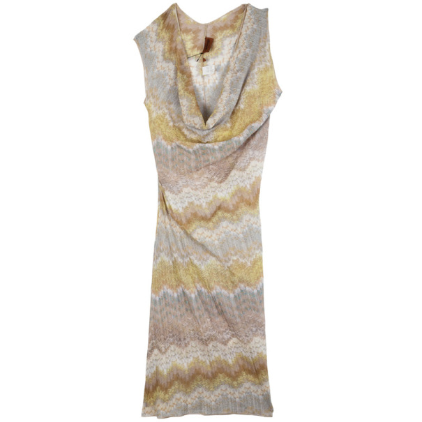 Missoni Multicolor Cowl Neck Dress S