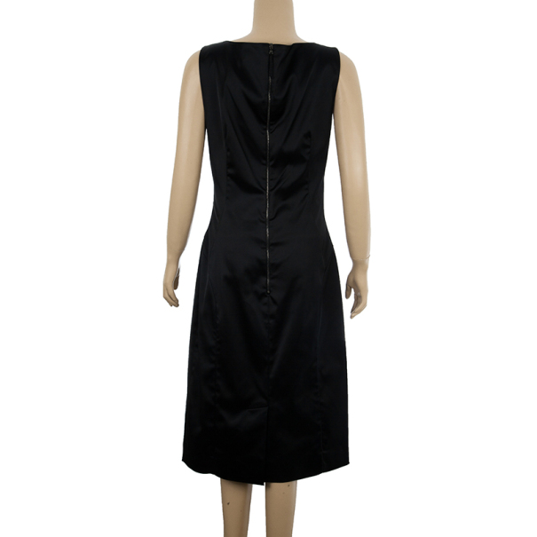 D and G Spotted Silk-Crepe Mini Dress L