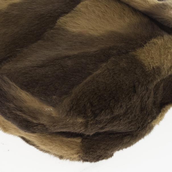 Fendi Printed Rabbit Fur Baguette