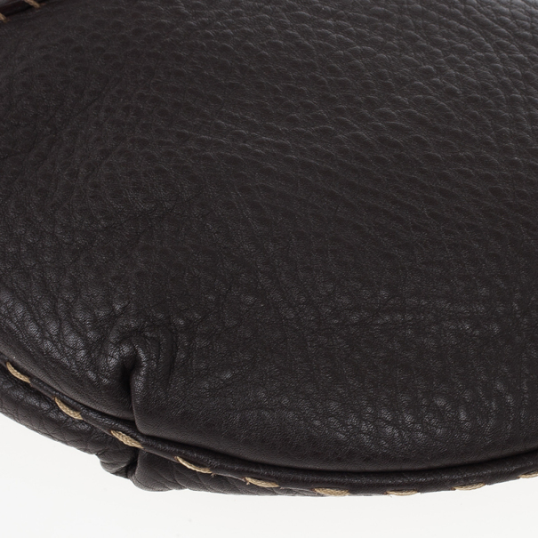 Fendi Tobacco Wave Leather Hobo