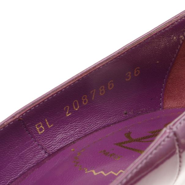 Yves Saint Laurent Purple Patent Tribtoo Pumps Size 36