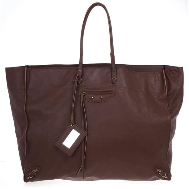 Balenciaga Brown Calfskin Papier A3