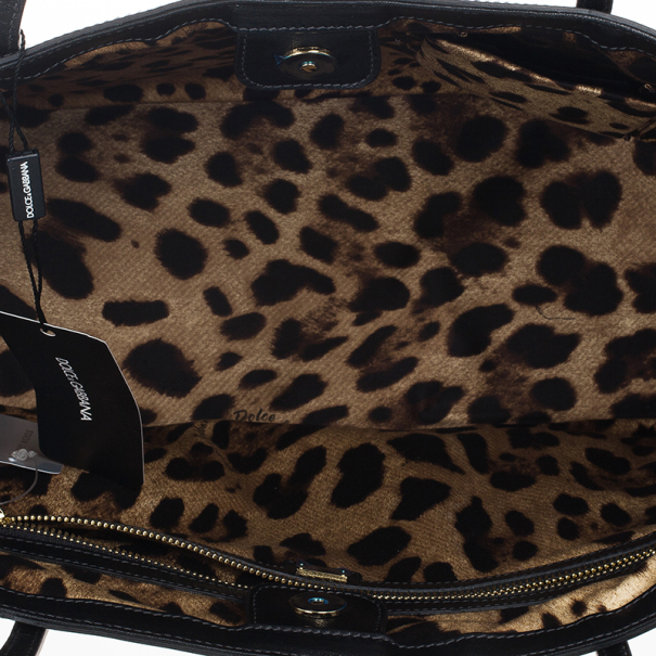 Dolce and Gabbana Black Miss Escape Patent Leather Tote