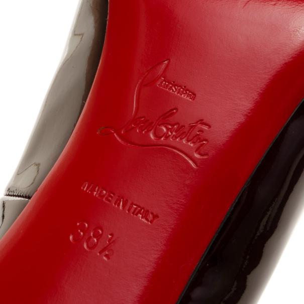 Christian Louboutin Burgundy Metallic Simple Pumps Size 38.5
