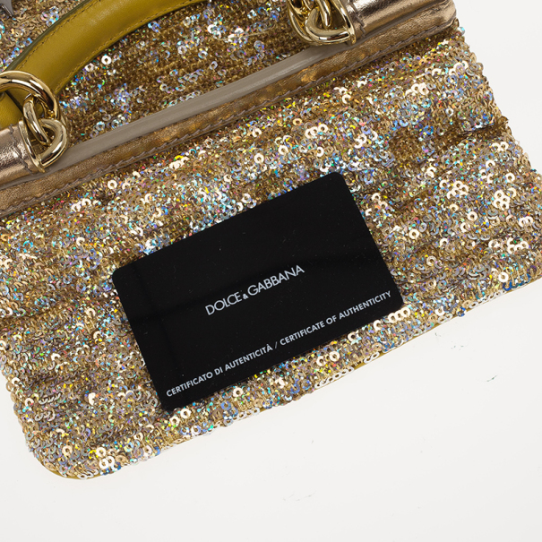 Dolce and Gabbana Sequined Miss Sicily Mini Bag