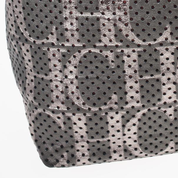 Carolina Herrera Perforated Flap Shoulder Bag