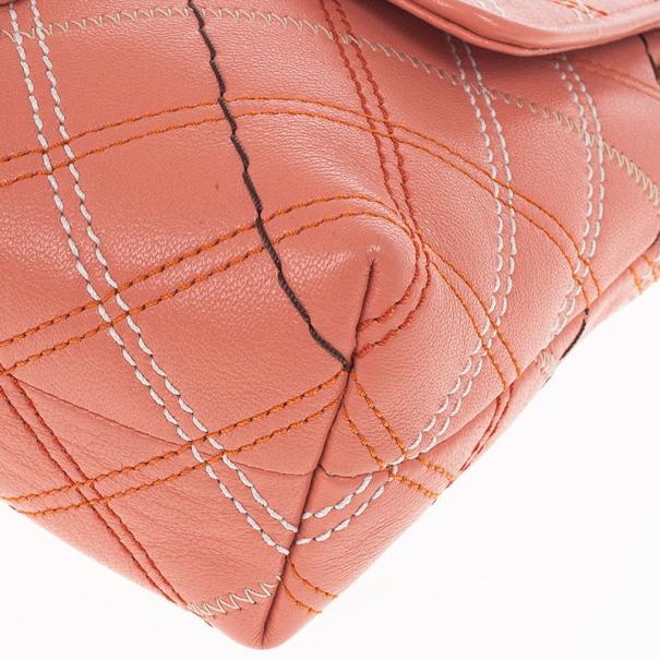 Marc Jacobs Multicolor Stitched Detail Logo Imprinted Shoulder Bag