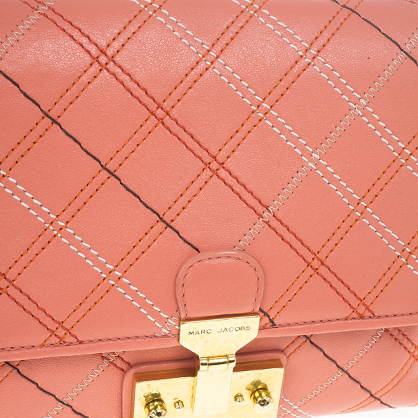 Marc Jacobs Multicolor Stitched Detail Logo Imprinted Shoulder Bag