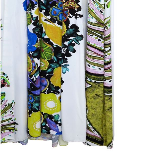 Roberto Cavalli Floral Gathered Stretch Dress M