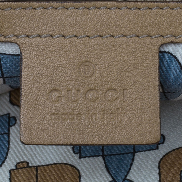Gucci Beige Guccissima Leather Babouska Heart Tote
