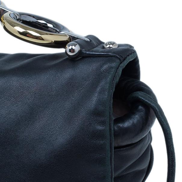 Dolce and Gabbana Black Lambskin Leather Flap Bag