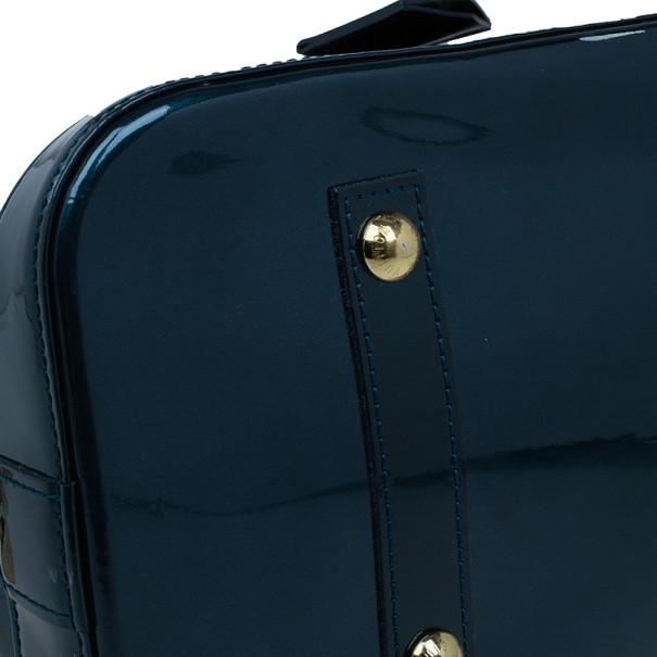 Louis Vuitton Bleu Nuit Monogram Vernis Alma GM