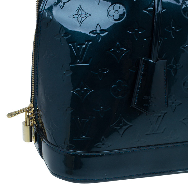 Louis Vuitton Bleu Nuit Monogram Vernis Alma GM